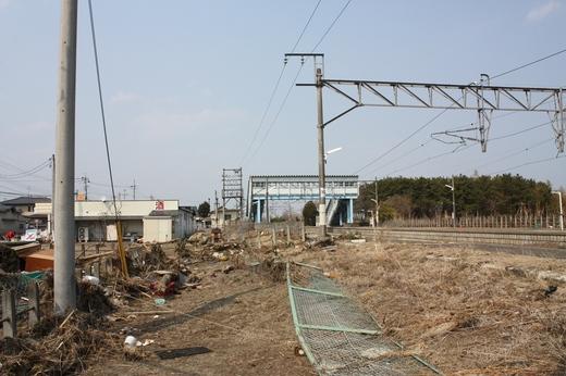 浜吉田駅の被災状況1