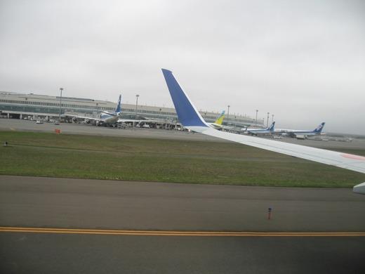 新千歳空港到着