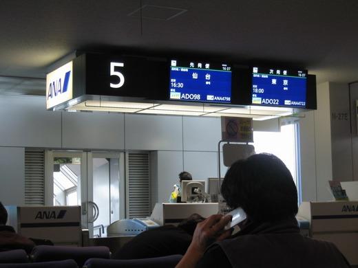 新千歳空港からの帰郷