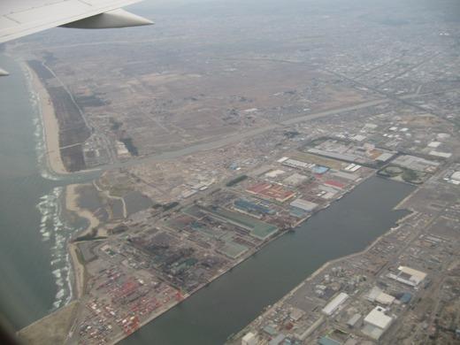 仙台港上空