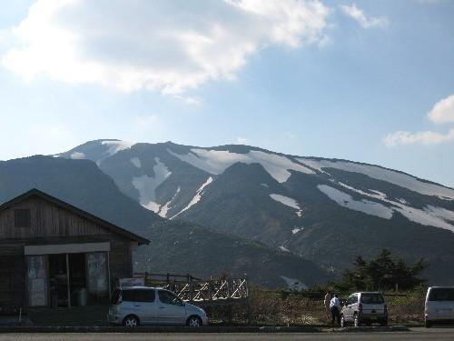 蔵王の残雪