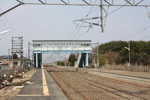 浜吉田駅の被災状況2