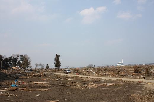 瓦礫と化した被災地(2)