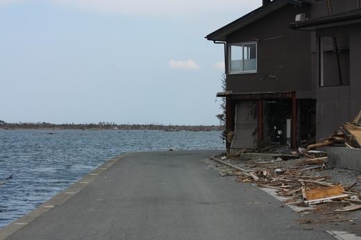 潮位が高かったので水面がすぐそこまで
