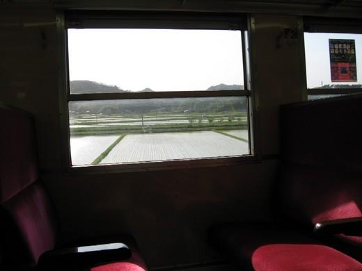 阿武隈急行線の車窓から