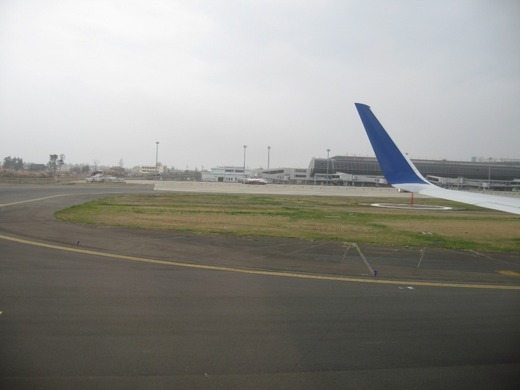 仙台空港からの飛び立ち