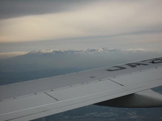 上空からの蔵王連峰